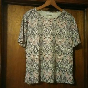 Blair Shell Blouse with Mosaic Pattern